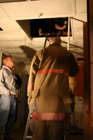 Captain Chuck Trenary overseeing functions being preformed during Training/House Burn Nov 12, 2006 Transco Road