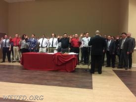 2017 WFVFD officers are sworn in by Chief Butler.